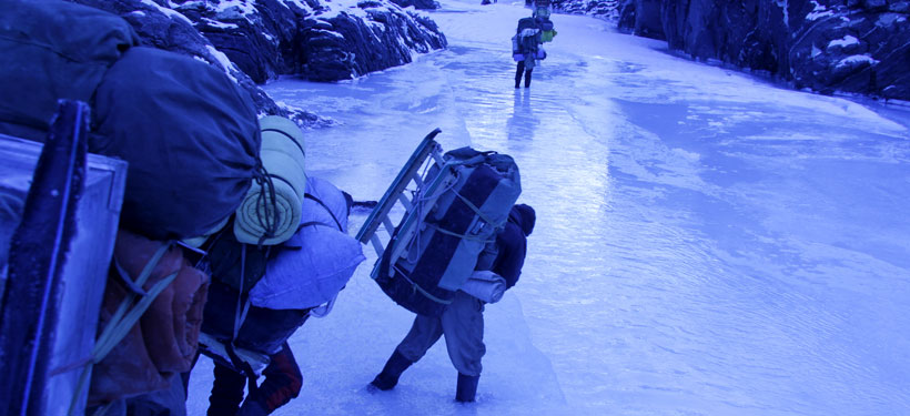 River water overflow icesheet