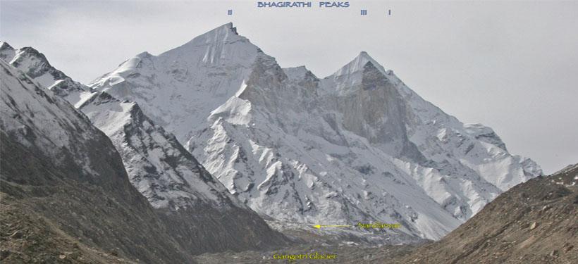 Bhagirathi Peaks from Gaumukh