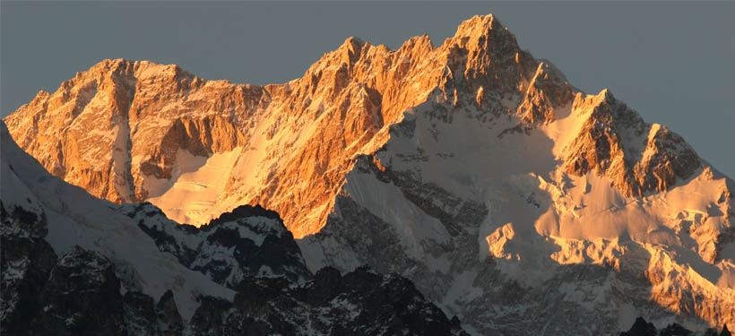 Kanchenjunga - sunset from Dzongri