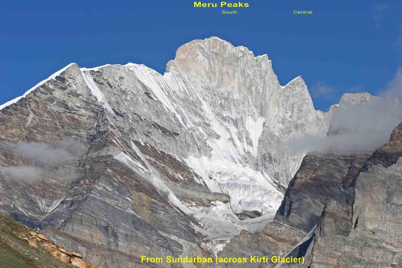 Meru from Kirti Glacier