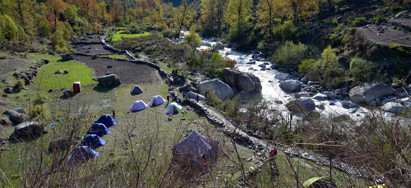 Camp at Seema